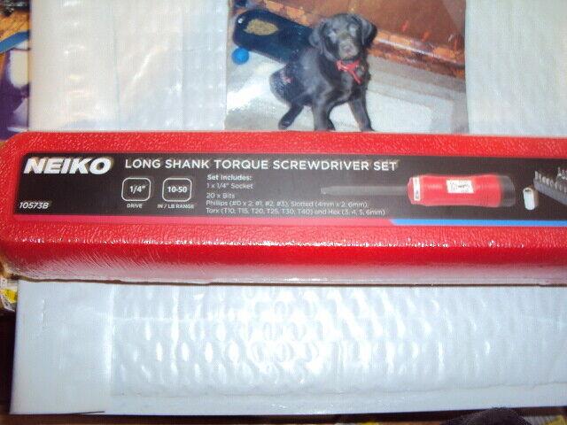 Neiko 1/4-inch Drive Torque Screwdriver - 10-50 Inch-Lbs