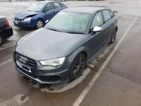 AUDI S3 8V 2016 BREAKING SPARES AIRBAG LEATHER SEATS ALLOY DOORS AXLE HUBS CORNERS