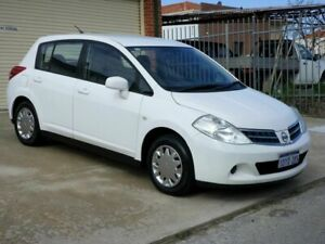 2012 Nissan Tiida C11 Series 3 MY10 ST White 4 Speed Automatic Hatchback Mount Lawley Stirling Area Preview