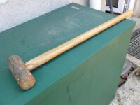 Wooden Handled Sledge Hammer.