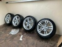 Genuine BMW M Sport Alloys Alloy Wheels 225/45/18 Star Rated Tyres