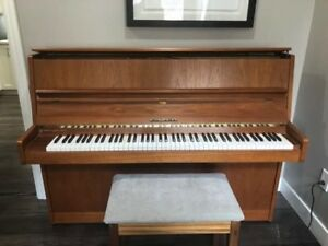 Teak Upright Piano