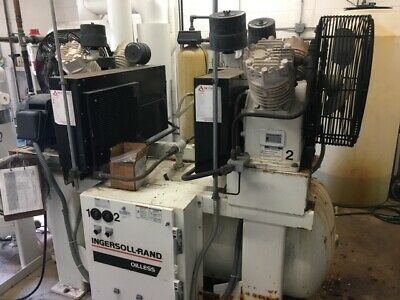 Ingersoll Rand Duplex Air Compressor Model 2-ol15a15 With Dryer Price Reduced