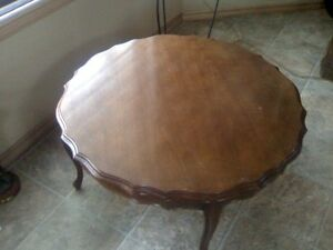 ANTIQUE ROUND COFFEE TABLE and END TABLES