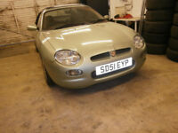 MGF, 2001, MOT June 18, extremely low mileage 36200miles, hard & soft top, excellent condition