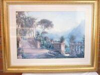 framed Picture Beckindale Lodge On Lake Guarda