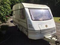 1990 Esprit Flair 4 berth caravan + full awning