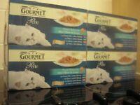 BNIB Purina Gourmet Perle Ocean Delicacies in Gravy Cat Food Pouches 48 pk