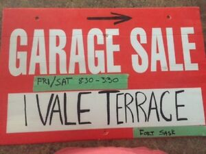 Garage Sale - 1 Vale Terrace, Fort Saskatchewan