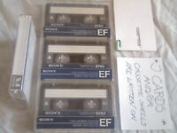 VARIOUS SONY CASSETTE TAPES, USED BUT GOOD CONDITION. LOTS OF MAKES/TYPES + EQUIPMENT/ELECTRONICS.
