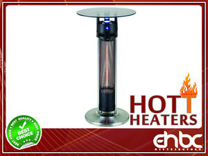 "OUTDOOR/INDOOR 37.5"" Tall 1200W Infrared Heated Table"