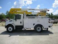 2007 International 4300 47' Reach Bucket Truck - Mat. Handler