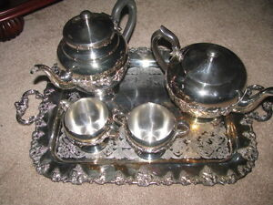 Silver Platted 5 Piece Tea Set