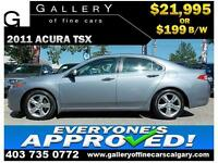 2011 Acura TSX 2.4L $199 bi-weekly APPLY NOW DRIVE NOW