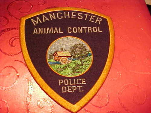 MANCHESTER CONNECTICUT ANIMAL CONTROL POLICE PATCH SHOULDER SIZE UNUSED TYPE 1