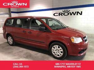 2016 Dodge Grand Caravan Canada Value Package / One Owner / Low