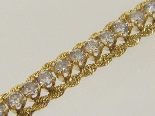 14k Diamond Tennis Bracelet 14 Karat Gold Solid Rope 0.80 Carat Diamond Bracelet