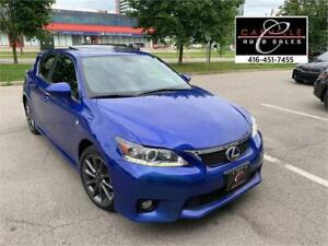 2012 LEXUS CT 200h F-SPORT NO ACCIDENT HYBRID SUNROOF LOADED