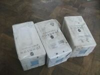 3 boxes or 132 tiles . New , unused . Brand - Johnson. Blue colour . Size: 147mm*147mm