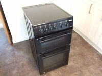 electric cooker beko BDVC563AK 500mm in black hardy used current model double oven