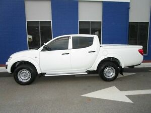 2013 Mitsubishi Triton MN MY13 GLX Double Cab White 4 Speed Sports Automatic Utility Welshpool Canning Area Preview