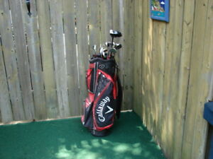 Men's Right hand Callaway golf club sets with Callaway golf bag