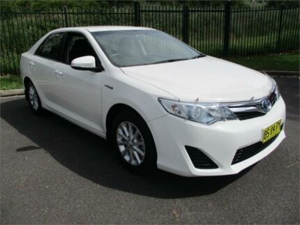 2012 Toyota Camry AVV50R Hybrid H White Continuous Variable Sedan Campbelltown Campbelltown Area Preview