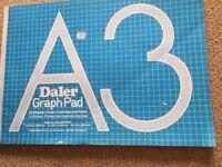A3 Daler Graph Pad - 50 Sheets