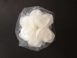 Ivory bridal hair flower