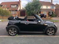 2011 Black Mini One (Cooper S) Convertible, 1.6, 2 Owners, Long MOT, 2 Keys,Petrol,Manual 100k Miles
