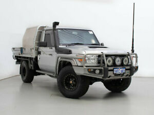 2013 Toyota Landcruiser VDJ79R MY12 Update GXL (4x4) Silver 5 Speed Manual Cab Chassis