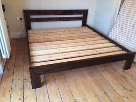 Handmade super king size bed and mattress with IKEA wardrobes package at discounted price