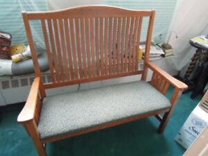 50 inch Oak Bench NEW Beautiful Condition Handmade