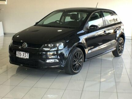2017 Volkswagen Polo 6R MY17 66TSI DSG Trendline Black 7 Speed Sports Automatic Dual Clutch Ashmore Gold Coast City Preview