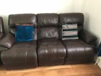 Two 3 seater recliner sofas