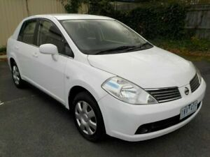 2008 Nissan Tiida C11 MY07 ST White 4 Speed Automatic Sedan Newtown Geelong City Preview
