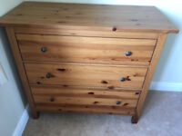 Solid Pine Bedroom Chest with 3 Drawers