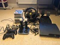 PS3 bundle with 15 games and loads of controllers