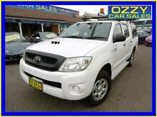 2010 Toyota Hilux KUN26R 09 Upgrade SR (4x4) White 4 Speed Automatic Dual Cab Pick-up Penrith Penrith Area Preview