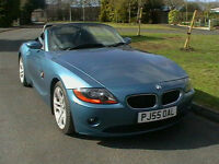 55 REG BMW Z4 2.0i SE ROADSTER CONVERTIBLE SPORTS CAR IN BLUE HPI CLEAR WARRANTY