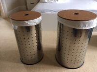 Stainless steel laundry bins - as new