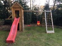 Children's climbing frame and swing set