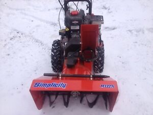 Simplicity M1227E Snowblower - new machine