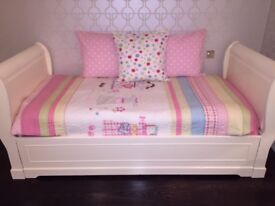 Single Sleigh Bed with Pull Out Under Bed to make a full Double Bed.