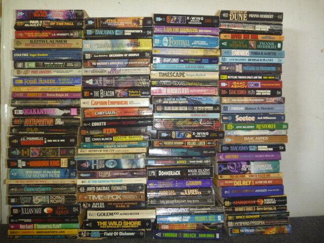 Lot of 20 Science Fiction Vintage Rare Asimov Book Paperback SCI-FI MIX RANDOM