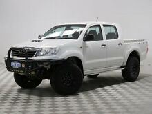 2013 Toyota Hilux KUN26R MY12 SR (4x4) White 4 Speed Automatic Dual Cab Pick-up Jandakot Cockburn Area Preview
