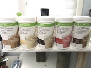 Herbalife Meal rpcmt shake, herbal tea, aloe concentrate, etc.