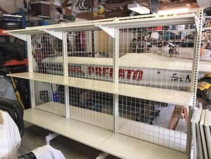shelving shop workshop, excell condition 1.9m Hx 2.7m