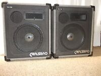 """A Classic Pair of Carlsbro 1 x 12"""" + Horn PA Speakers in Excellent Condition and fully working"""