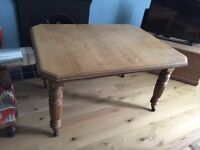 1920 Solid Oak Dining Table